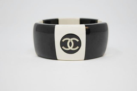 Vintage CHANEL Striped Logo Bracelet