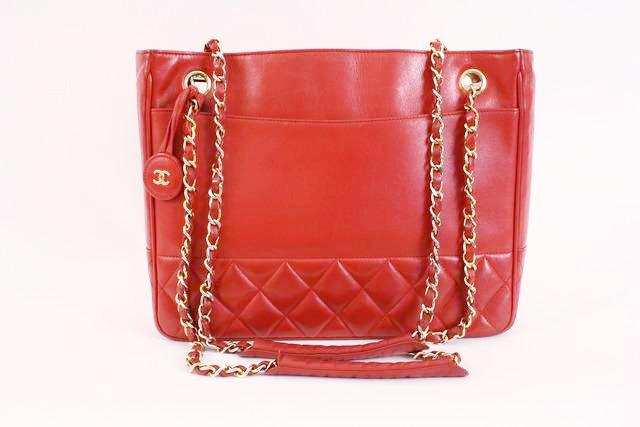 81f05c5f6b Vintage CHANEL Red Tote Bag at Rice and Beans Vintage
