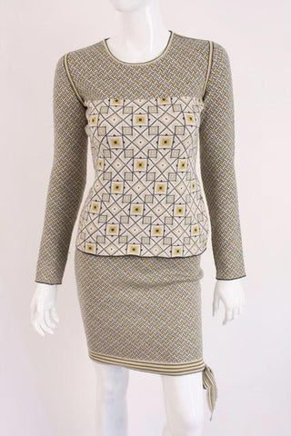 New CHANEL 04A Sweater & Skirt Set