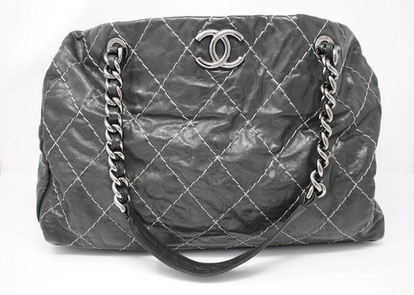 Chanel grey large tote bag