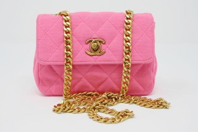 Vintage Chanel pink mini bag