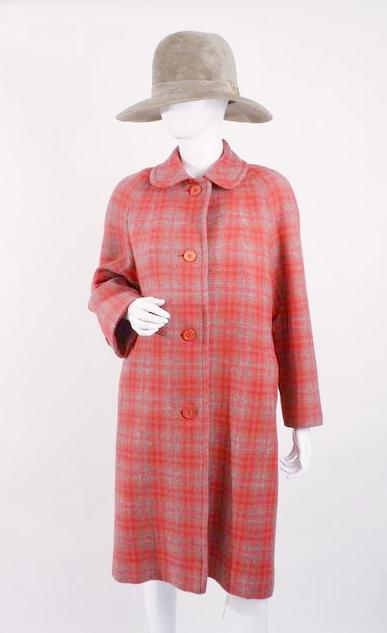 Vintage 60's Aquascutum Plaid Coat