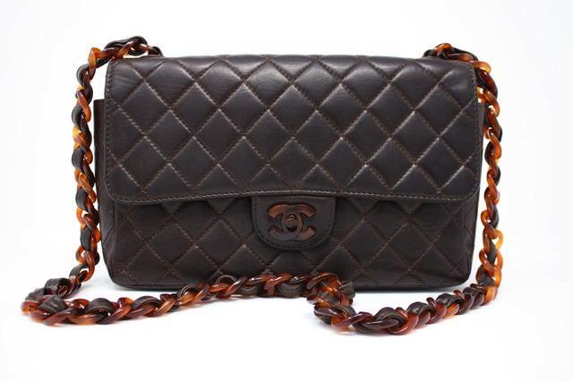 Rare Vintage Chanel Tortoise Flap Bag
