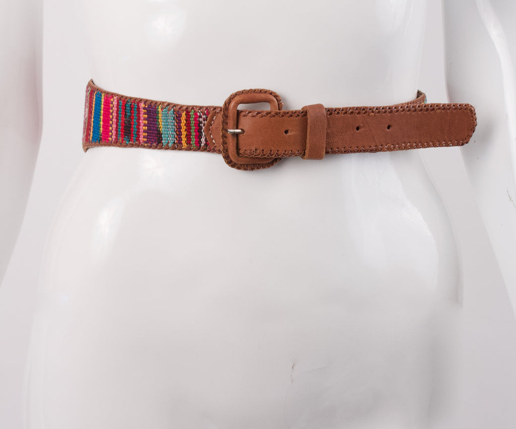 Vintage Belt With Guatemalan Fabric