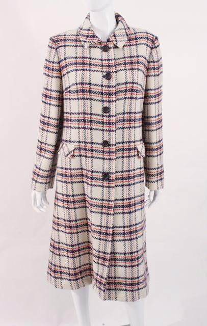 Vintage 60's Plaid Wool Coat