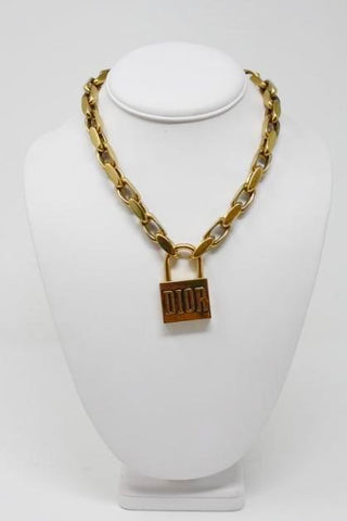 New 2018 DIOR Lock Necklace