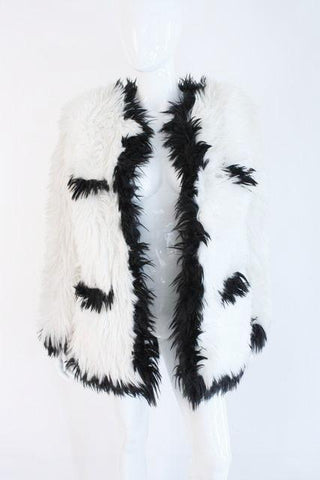 Rare Iconic Vintage CHANEL 94A Faux Fur Coat