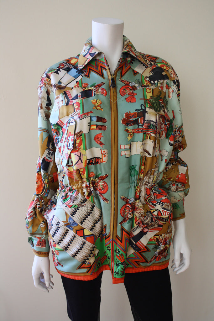 Rare 1990s HERMES Reversible Silk Jacket