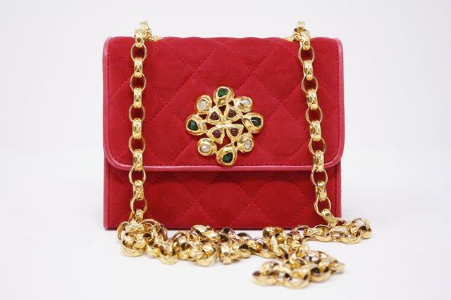Rare Vintage Chanel Red Flap Gripoix Clasp