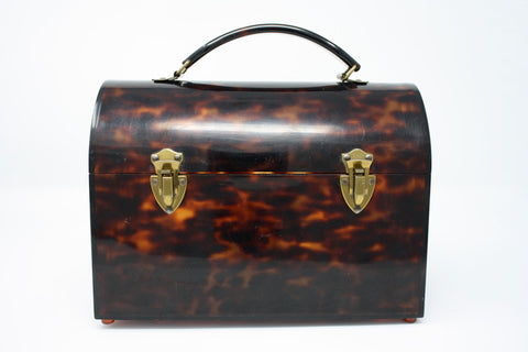Vintage 60's Tortoise Shell Trunk Bag