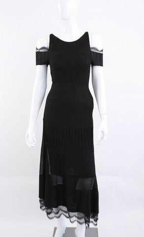 CHANEL 07C Off The Shoulder Maxi Dress