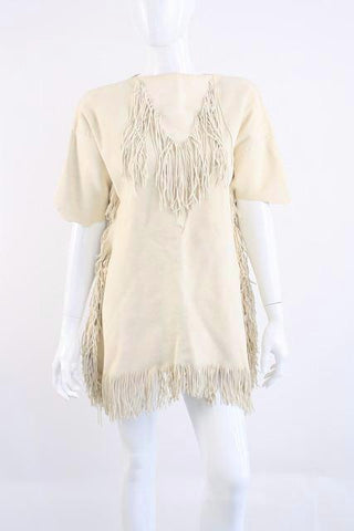 Vintage 60's Deerskin Fringed Mini Dress