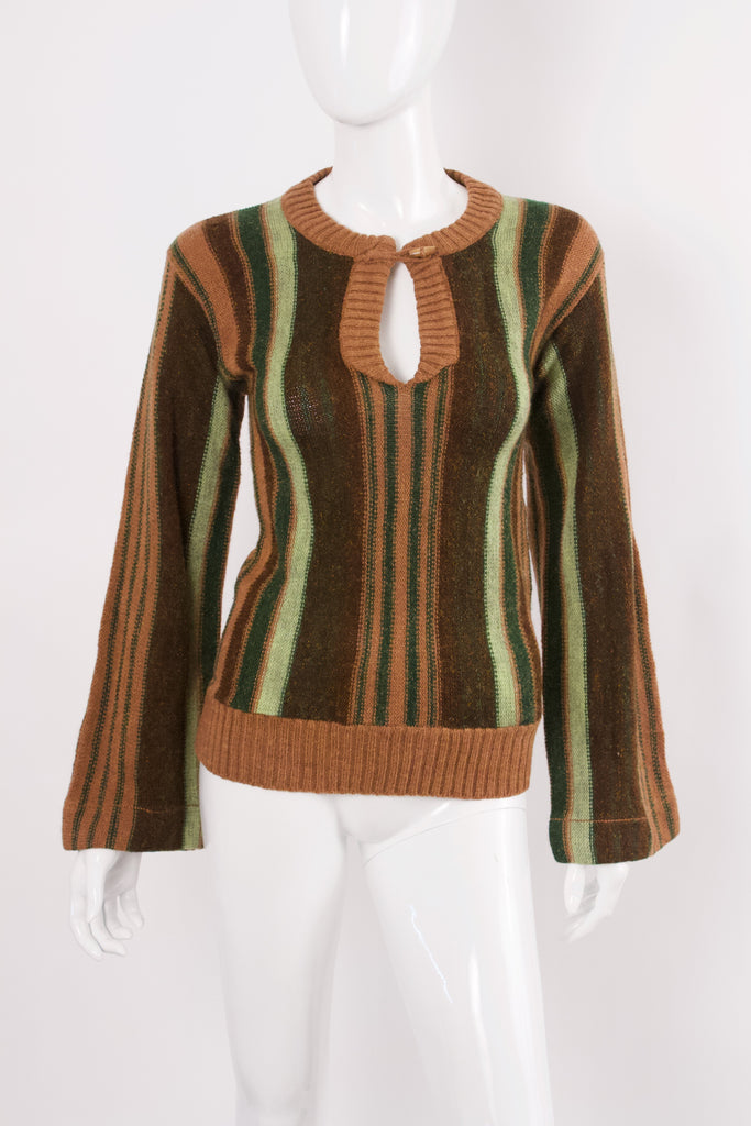 Vintage 70's Striped Bell Sleeve Sweater