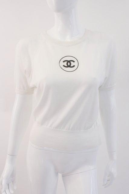 Vintage Chanel Logo Knit Top