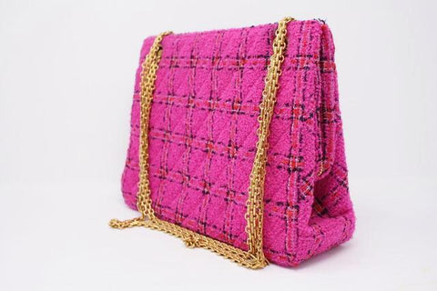 Rare Vintage CHANEL F/W 1996 Pink Tweed Bag  ON LAYAWAY