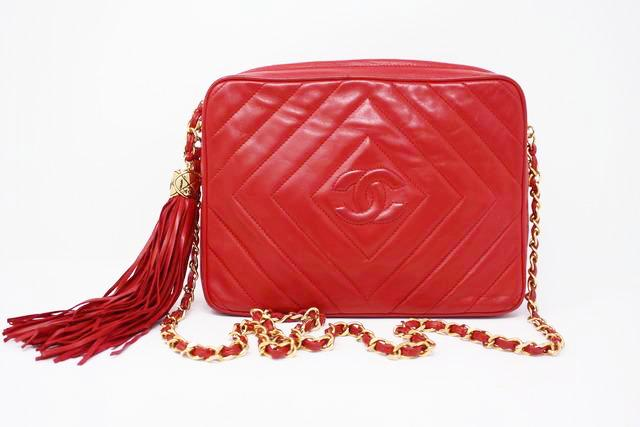 Vintage Chanel Red Camera Bag