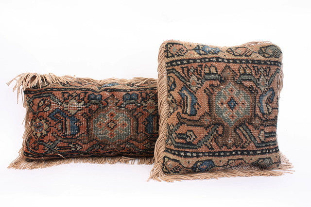 Set of 2 Vintage Kilim Pillows