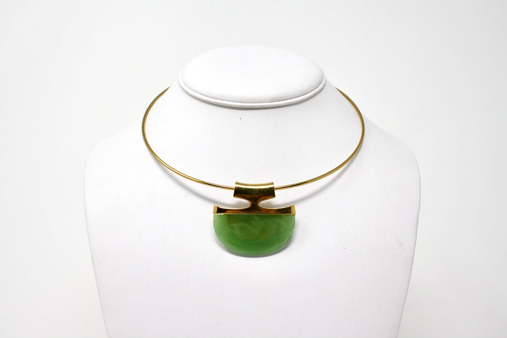 Vintage 70's TRIFARI Lucite Modernist Necklace