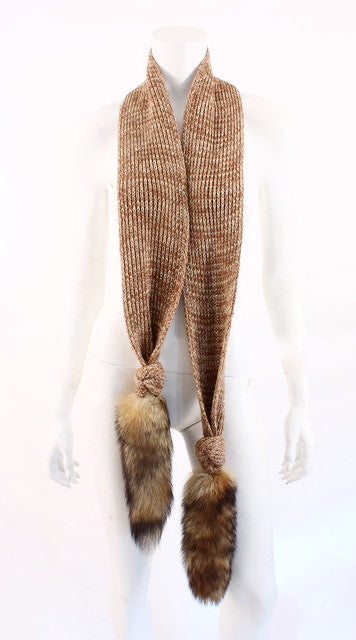 Vintage 70's Fox Tail Scarf