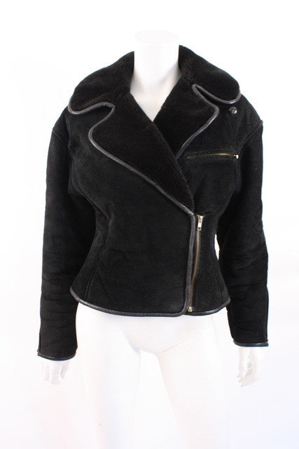 Vintage Shearling Motorcycle Jacket