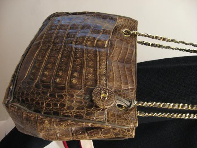 Rare Vintage CHANEL Crocodile Tote Bag