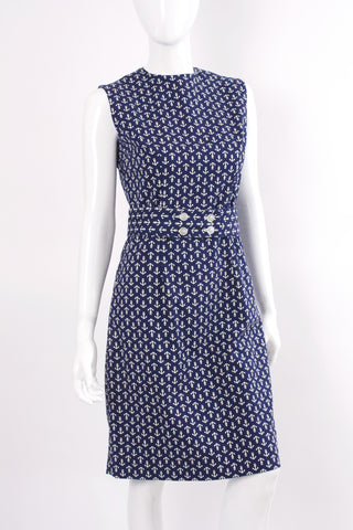 Vintage 60's Nautical Anchor Dress