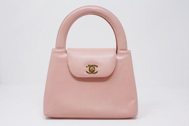 5624c37e0092 Vintage CHANEL Pink Top Handle Bag at Rice and Beans Vintage