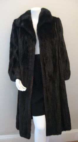 Luxurious Vintage 3/4 Length Brown Mink Fur Coat from Greece