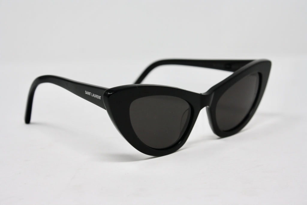 SAINT LAURENT Black Cat Eye Sunglasses