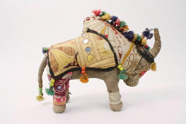 Set Of 3 Vintage Stuffed Handmade Animals From India