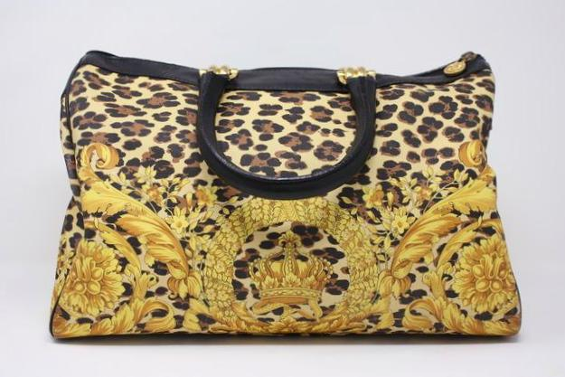 626e79e399a0f Vintage GIANNI VERSACE Leopard Duffle Bag at Rice and Beans Vintage