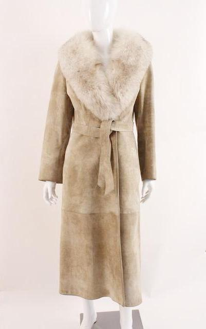 Vintage Bonwit Teller Leather & Fox Coat