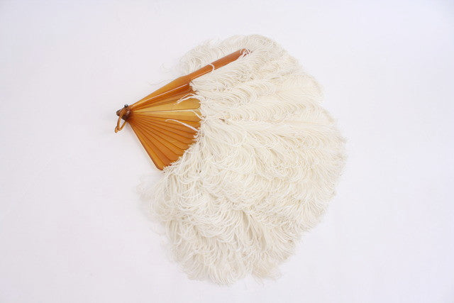 Victorian Ostrich Feather Fan