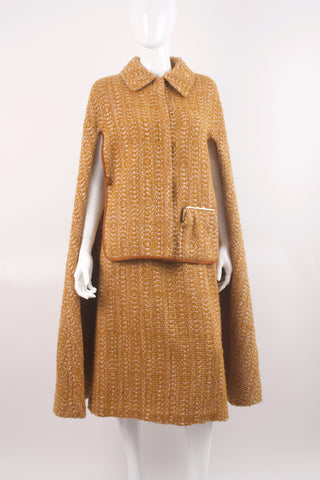 Vintage 60's BONNIE CASHIN Tweed Cape & Skirt Set