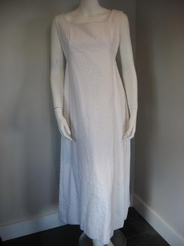 Vintage 60's MALCOLM STARR White Gown with Open Back