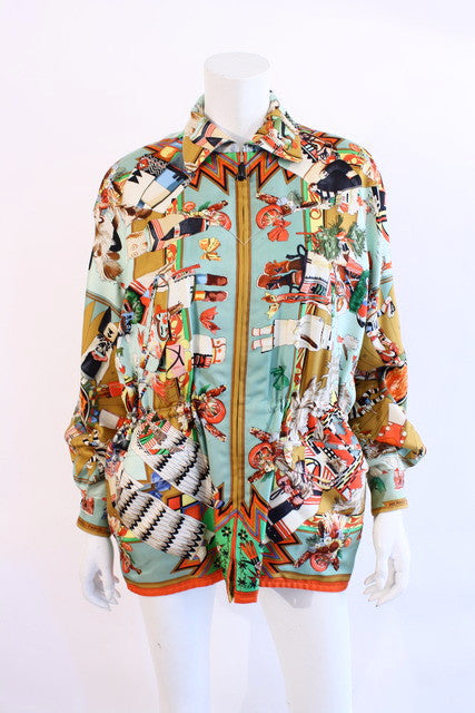 Vintage Hermes Kachina Christopher Columbus Silk Jacket