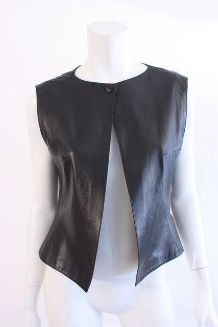 Vintage Chanel Leather Vest