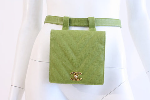 Vintage CHANEL Classic Flap Waist Belt Bag