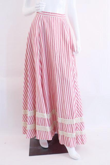 Vintage Girasol Striped Maxi Skirt 70's