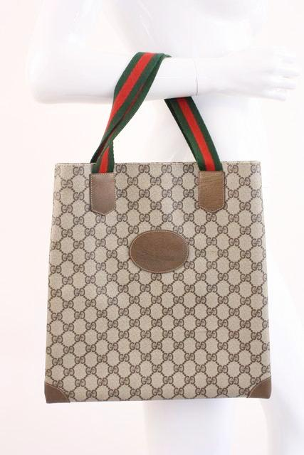 721b2c61701863 Vintage GUCCI GG Supreme Tote Bag at Rice and Beans Vintage