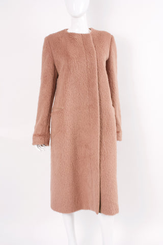 MAX MARA Beige Alpaca & Leather Coat