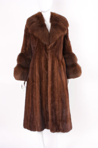 Vintage 60's Mink & Fox Fur Coat