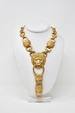 Massive Rare Vintage 70's KENNETH J. LANE Lion Necklace