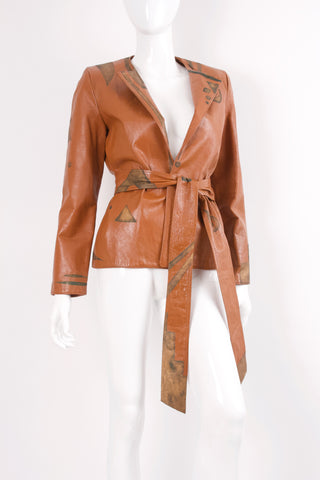 Rare Vintage 70's GIORGIO SANT'ANGELO Planetary Leather Jacket