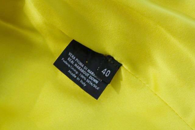 0ac20425b6e Rare S/S 2004 GUCCI Yellow Marabou Feather Jacket by Tom Ford