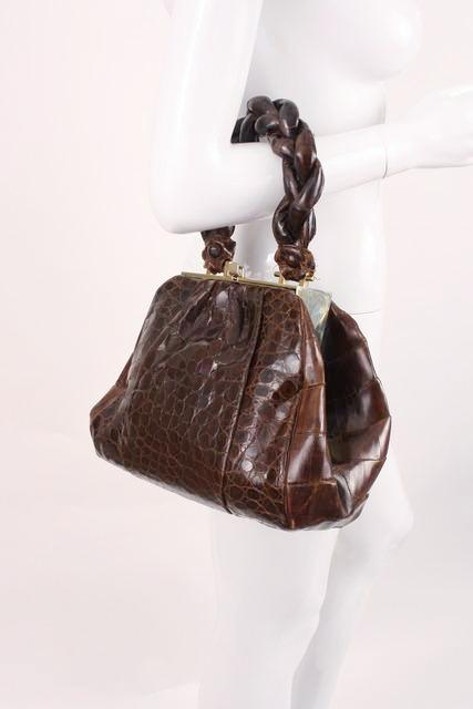 Vintage 40's Alligator Handbag