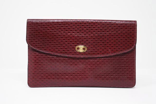 Vintage CELINE Embossed Leather Clutch