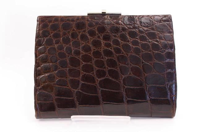 Vintage 50's crocodile clutch