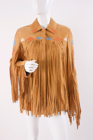 Vintage FRANCK NAMARI Fringe Leather Jacket