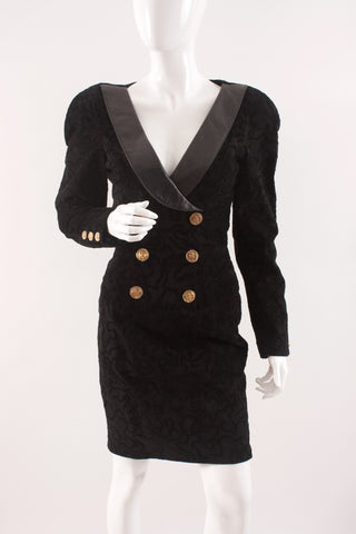Vintage 80's MICHAEL HOBAN North Beach Leather Dress